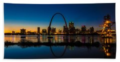 Downtown St. Louis And The Gateway Arch Beach Towel