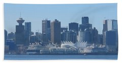 Downtown View From North Vancouver Beach Towel