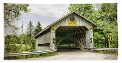 Doyle Road Covered Bridge Beach Towel