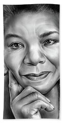 Dr Maya Angelou Beach Towel