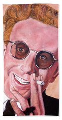 Beach Towel featuring the painting Dr Strangelove  by Tom Roderick