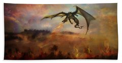 Dracarys Beach Towel by Lilia D