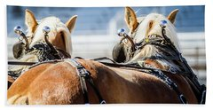 Beach Sheet featuring the photograph Draft Horses Ready by Dawn Romine