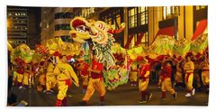 Dragon Dance Beach Towel