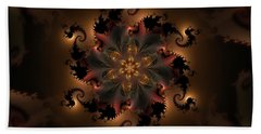 Dragon Flower Beach Towel
