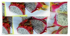 Dragon Fruit Collage Beach Towel