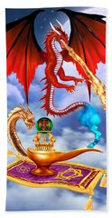 Dragon Genie Beach Towel
