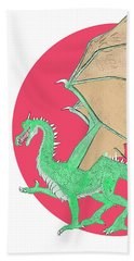 Dragon Illustration 1 Beach Towel