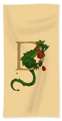 Dragon Letter D 2016 Beach Towel by Donna Huntriss