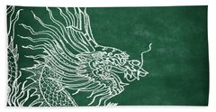 Dragon On Chalkboard Beach Towel