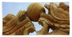Dragon Sculpture Beach Sheet