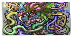 Beach Sheet featuring the digital art Dragon Vines by Kevin Middleton