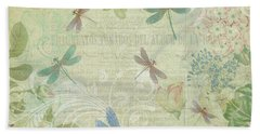 Dragonfly Dream Beach Sheet by Peggy Collins