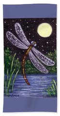Dragonfly Dreaming Beach Towel by Sandra Estes