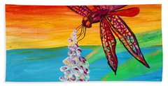 Dragonfly Ecstatic Beach Towel