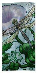 Dragonfly In Sun Beach Sheet