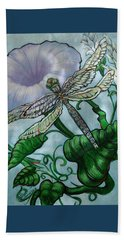 Dragonfly In Sun Beach Towel