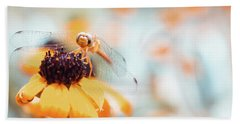 Dragonfly In The Garden Beach Towel