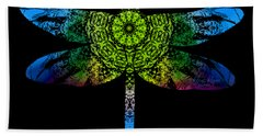 Dragonfly Kaleidoscope Beach Towel