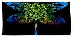Dragonfly Kaleidoscope Beach Sheet