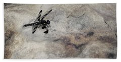 Dragonfly On Solid Ground Beach Towel