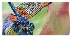 Dragonfly Of Many Colors Beach Sheet