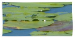 Dragonfly On Lily Pad Beach Towel
