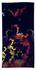Dragons - Abstract Fantasy Art Beach Towel by Modern Art Prints