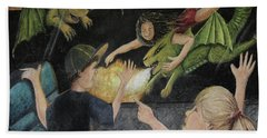 Dragons From The Train Beach Towel