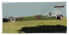 Dragster Flower Bed Beach Towel