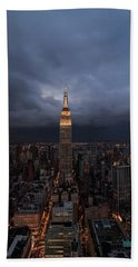 Drama In The City  Beach Towel by Anthony Fields
