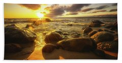 Drama On The Horizon Beach Towel