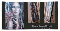 Drama Queen 301109 Beach Towel by Selena Boron