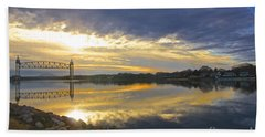 Dramatic Cape Cod Canal Sunrise Beach Towel by Amazing Jules