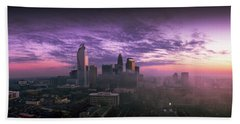 Dramatic Charlotte Sunrise Beach Towel by Serge Skiba