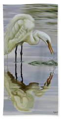 Beach Towel featuring the painting Dramatic Reflections by Phyllis Beiser
