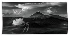 Dramatic View Of Mount Bromo Beach Towel