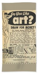 Draw For Money Beach Towel