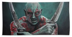 Drax The Destroyer Beach Towel by Tom Carlton