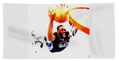 Draymond Green Taking Flight Beach Towel by Brian Reaves