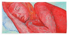 Beach Towel featuring the painting Dream Big   by Xueling Zou