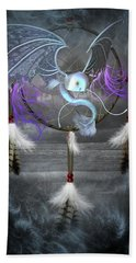 Dream Catcher Dragon Fish Beach Towel