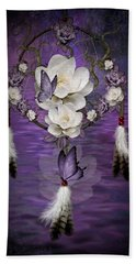 Dream Catcher Purple Flowers Beach Sheet