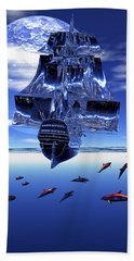 Beach Towel featuring the digital art Dream Sea Voyager by Claude McCoy