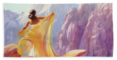 Beach Towel featuring the painting Dreamcatcher by Steve Henderson