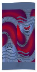 Beach Towel featuring the digital art Dreaming Clown by Ben and Raisa Gertsberg