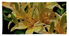 Dreaming Of Lilies Beach Towel