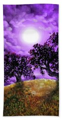 Dreaming Of Oak Trees Beach Towel by Laura Iverson