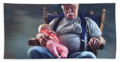 Dreaming With Grandpa Beach Towel by Susan Kinney