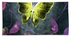 Beach Towel featuring the digital art Dreams Of Butterflies by Writermore Arts